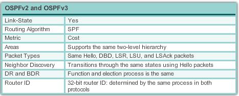 Similarities between OSPFv2 and v3
