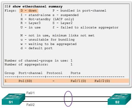 troubleshooting EtherChannel1