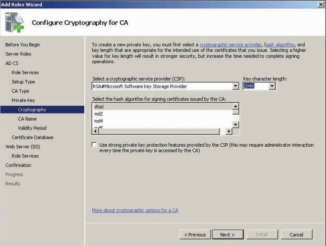 configure cryptography