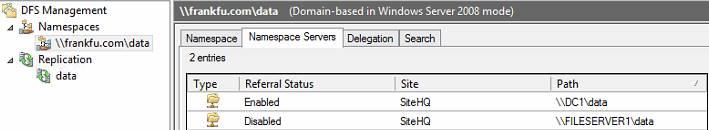 DFS configuration_namespace